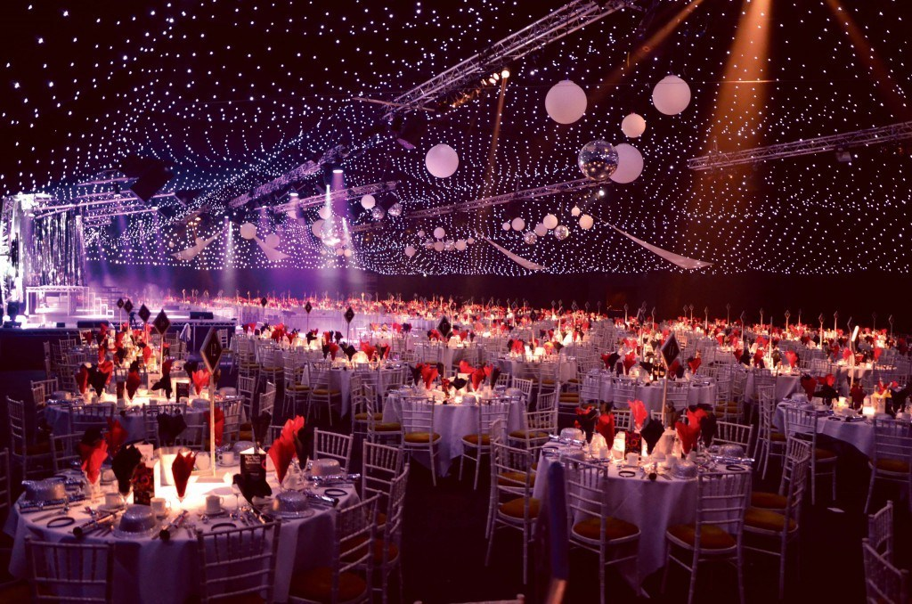 Marquee from one of our Christmas Parties Manchester