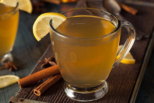 how to make a hot lemon drink for colds